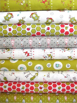 Natalie Lymer, Folktale, Meadow in FAT QUARTERS 9 Total