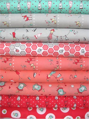 Natalie Lymer, Folktale, Sweet Pink in FAT QUARTERS 9 Total