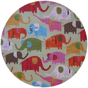 Nancy Wolff for Kokka Japan, Elephants Green