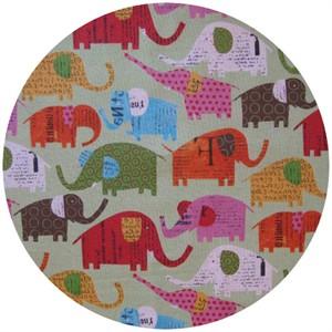 Nancy Wolff for Kokka Japan, Elephants Green