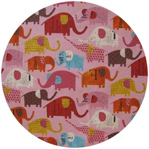 Nancy Wolff for Kokka Japan, Elephants Pink
