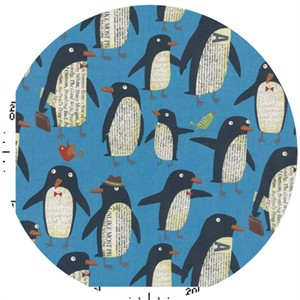 Nancy Wolff for Kokka Japan, Penguins Blue