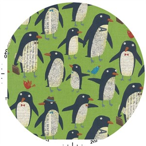 Nancy Wolff for Kokka Japan, Penguins Green