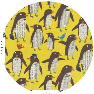 Nancy Wolff for Kokka Japan, Penguins Yellow