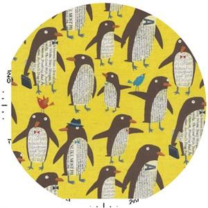 Nancy Wolff for Kokka Japan, Penguins Yellow