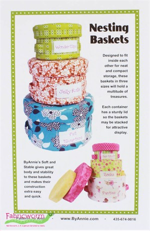 ByAnnie, Sewing Pattern, Nesting Baskets