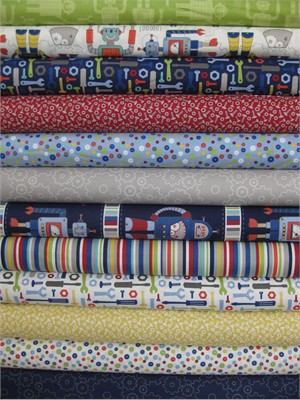 Northcott, Robotex, Entire Collection in FAT QUARTERS 12 Total