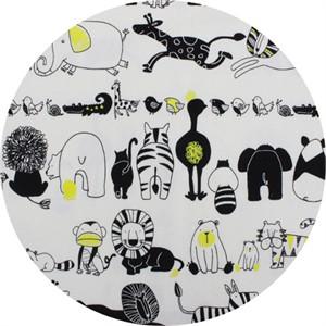Japanese Import, OXFORD, Animal Stripe Cream