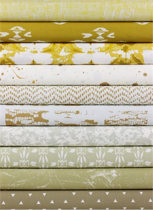 April Rhodes for Art Gallery, Observer, Golden in FAT QUARTERS 10 Total