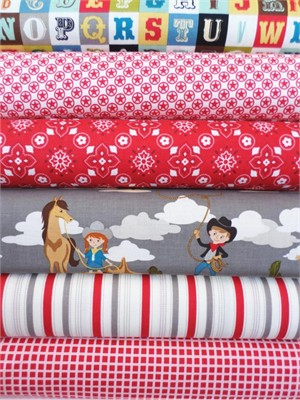 October Afternoon. Sasparilla, Red in Fat Quarters, 6 Total