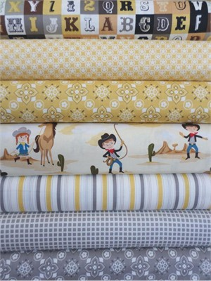 October Afternoon, Sasparilla, Yellow in Fat Quarters, 7 Total