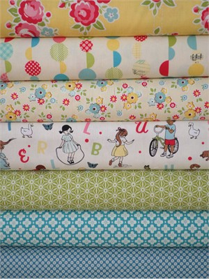 October Afternoon, Sidewalks, Cream in FAT QUARTERS 7 Total