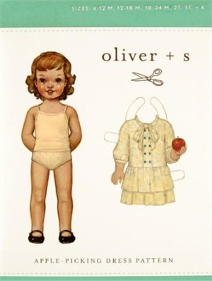 Oliver + S Sewing Pattern, Apple Picking Dress (Sizes 6m-4)