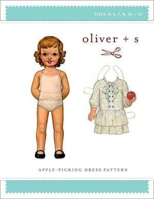 Oliver + S Sewing Pattern, Apple Picking Dress (Sizes 5-12)