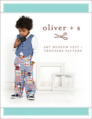 Oliver + S Sewing Pattern, Art Museum Vest & Trousers (Sizes 6m - 4)