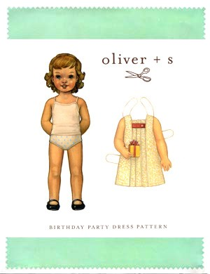 Oliver + S Sewing Pattern, Birthday Party Dress (sizes 4-8)