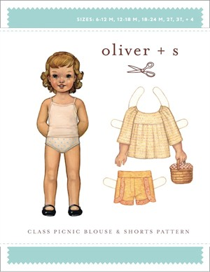 Oliver + S Sewing Pattern, Class Picnic Blouse & Shorts