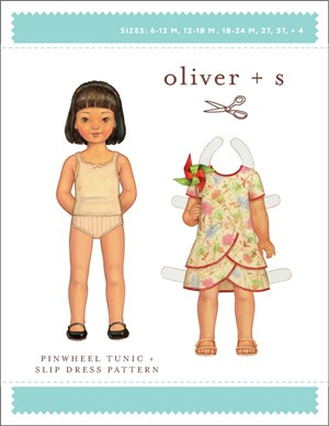 Oliver + S Sewing Pattern, Pinwheel Tunic & Slip Dress (Sizes 6m - 4)