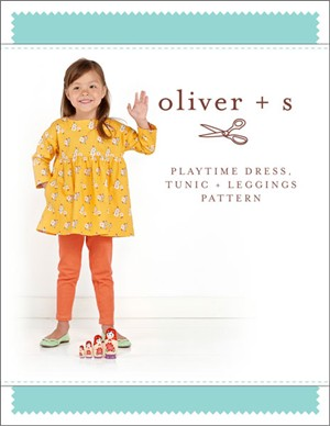 Oliver + S Sewing Pattern, Playtime Dress & Leggings (Sizes 6m - 4)
