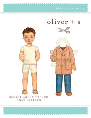Oliver + S Sewing Pattern, Secret Agent Trench Coat (Sizes 5-12)