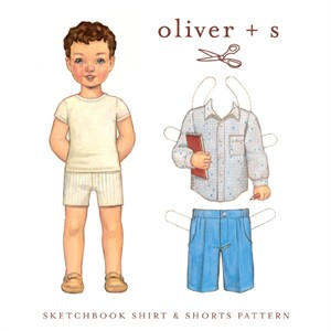 Oliver + S, Sewing Pattern, Sketchbook Shirt and Shorts (Sizes 5 - 12)