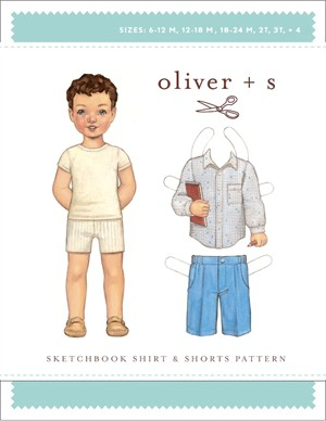 Oliver + S Sewing Pattern, Sketchbook Shirt & Shorts (Sizes 6m - 4)