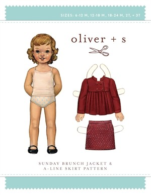 Oliver + S Sewing Pattern, Sunday Brunch Jacket & A-Line Skirt