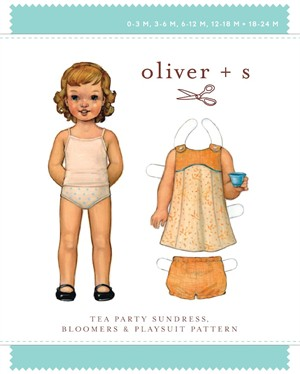 Oliver + S Sewing Pattern, Tea Party Sundress, Bloomers, & Playsuit  (Birth-24M)