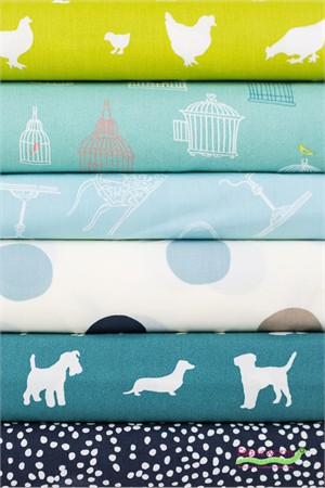 Fabricworm Custom Bundle, ORGANIC, On The Farm in FAT QUARTERS 6 Total