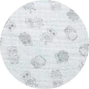 Shannon Fabrics, Embrace, DOUBLE GAUZE, Owls Opal