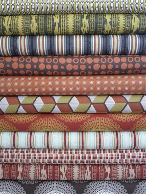 Parson Gray, Vagabond, Terracotta in FAT QUARTERS 11 Total