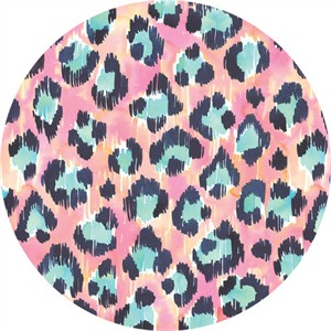 Josephine Kimberling for Blend, Tropical Paradise, Painted Leopard Pink