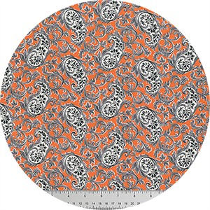 Verna Mosquera for Free Spirit, Candelabra, Paisley Potion Orange
