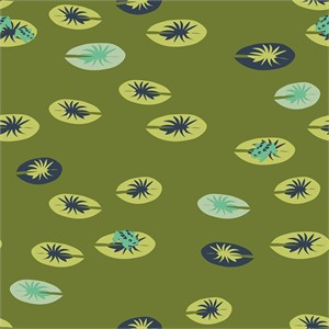 Patrick and Andrea Patton for Birch Organic Fabrics, Swan Lake, KNIT, Frog Pad Moss