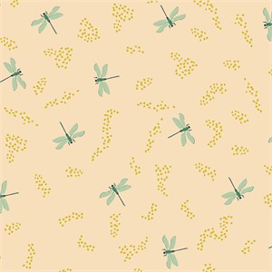 Patrick and Andrea Patton for Birch Organic Fabrics, Swan Lake, Dragonflies Shell