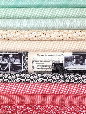 Fabricworm Custom Bundle, Paris Kitchen in FAT QUARTERS 9 Total (PRE-CUT)