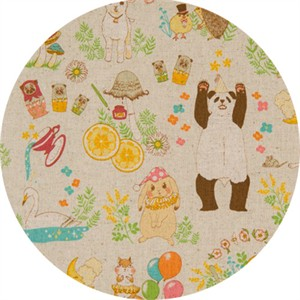 Japanese Import, CANVAS, Party Animals Natural