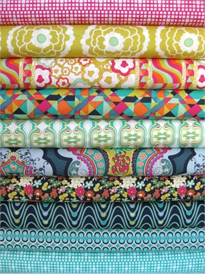 Pat Bravo, Carnaby Street, Rad Love in FAT QUARTERS, 9 Total (Pre-cuts)
