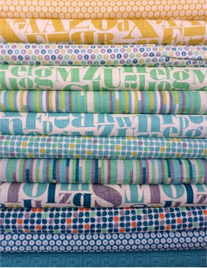 Patty Young, Just My Type, Breeze in FAT QUARTERS 12 Total