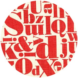 Patty Young, Just My Type, Letterpress Red
