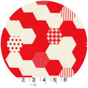 Patty Young, Textured Basics, Hexies Red