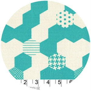 Patty Young, Textured Basics, Hexies Teal