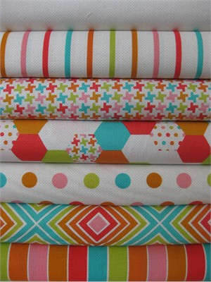 Patty Young, Textured Basics, Multi in FAT QUARTERS 7 Total