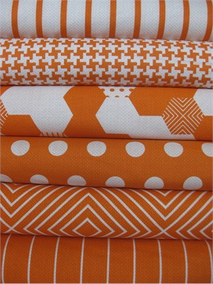 Patty Young, Textured Basics, Papaya in FAT QUARTERS 6 Total