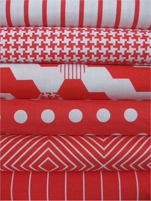 Patty Young, Textured Basics, Red in FAT QUARTERS 6 Total