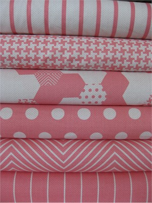 Patty Young, Textured Basics, Salmon in FAT QUARTERS 6 Total