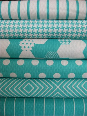 Patty Young, Textured Basics, Teal in FAT QUARTERS 6 Total