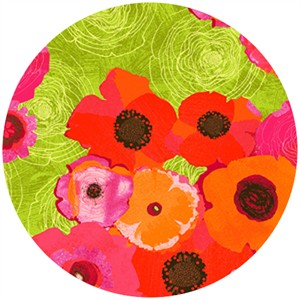 P&B Textiles, Always Blooming, Anemones Green