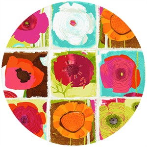 "P&B Textiles, Always Blooming, Garden Mix Multi (23"" Panel)"