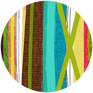 P&B Textiles, Always Blooming, Ribbon Stripe Multi